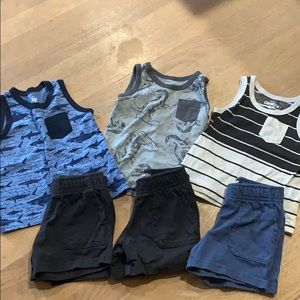 Infant boys tanks and shorts